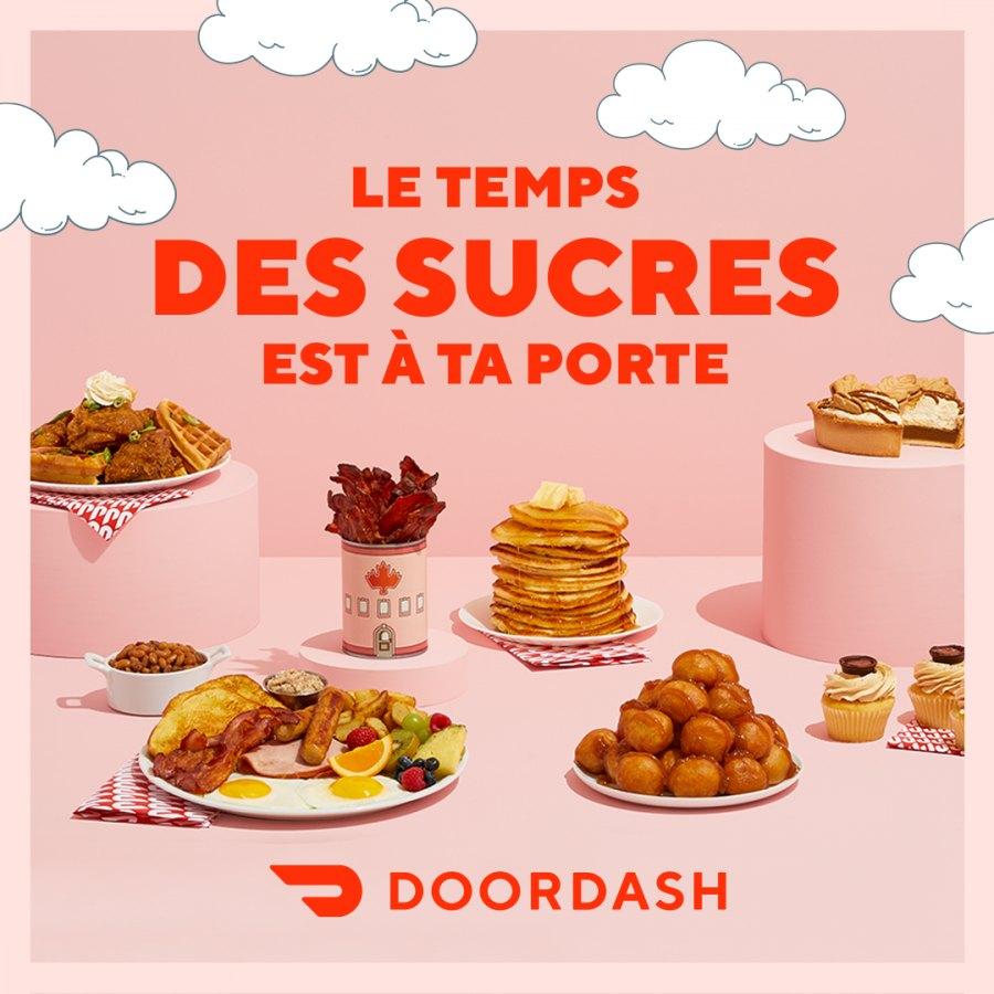 Doordash vous propose une version moderne du temps des sucres!