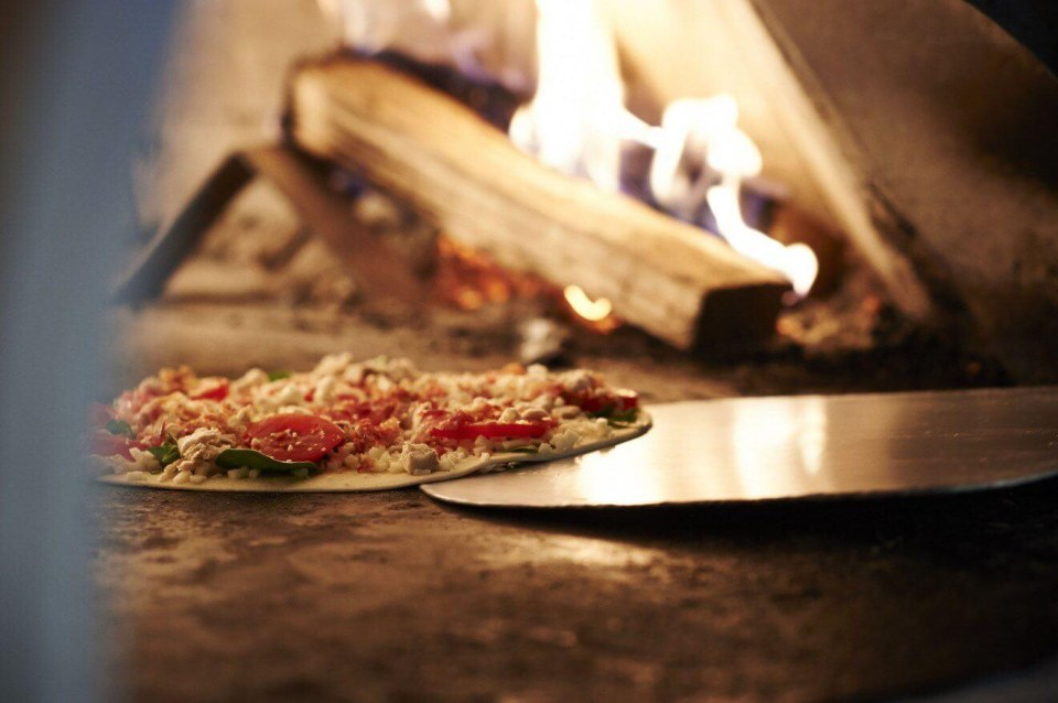 Warm Wood Oven Pizzas in Montreal!