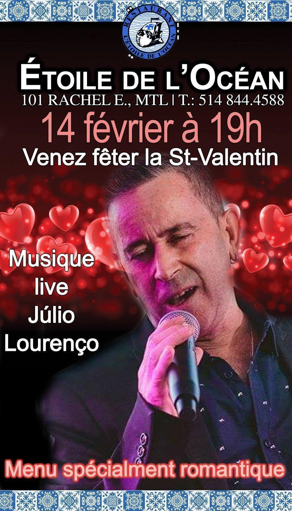 Musique Live de Julio Lorenço Chez L'Etoie de L'Océan - événement